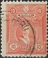 PERU 1924 Portraits - 10c - Red (A. B. Leguia) FU - Pérou