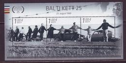 Estland 2014. 25th Anniversary Of The Baltic Chain. Bl. MNH. - Estland