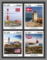 ANGOLA 2019 MNH Lighthouses Leuchttürme Phares 4v - OFFICIAL ISSUE - DH1923 - Lighthouses