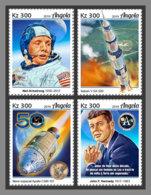 ANGOLA 2019 MNH 50 Years Apollo 11 Space Raumfahrt Espace 4v - OFFICIAL ISSUE - DH1923 - Raumfahrt