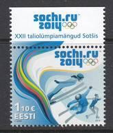 Estland 2014. Winterspiele. 1 W. MNH - Estland