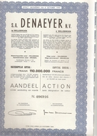 Lo T - 5 X - S.A. Denaeyer N.V. - Willebroek - Hist. Wertpapiere - Nonvaleurs