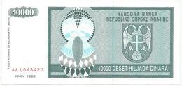 Croatia 10000 Dinara 1992. P-R7 - Croatie