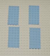 Lego 4x Plate Gris 4x8 Ref 3035 - Lego Technic