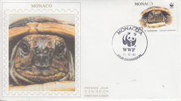 Enveloppe  FDC  1er  Jour  MONACO   La  TORTUE  D' HERMANN   1991 - Schildkröten