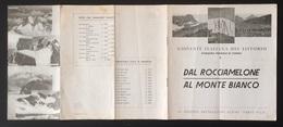 """1202 """"TORINO-10° GRUPPO BATTAGLIONI ALPINI-FABIO FILZI-GIOVENTU' ITALIANA DEL LITTORIO-DAL ROCCIAMELONE AL M.BIANCO"""" - Dépliants Touristiques"""