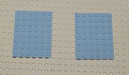 Lego 2x Plate Gris 6x8 Ref 3036 - Lego Technic