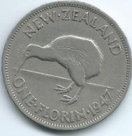 New Zealand - George VI - 1947 -Florin - KM10.2a - Nouvelle-Zélande