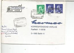 AYAMONTE HUELVA CC CERTIFICADA SELLOS BASICA - 1931-Hoy: 2ª República - ... Juan Carlos I