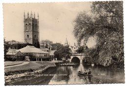 Tarjeta Postal Circulada Magdalen College And Bridge, Oxford. 1961 - Oxford