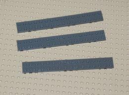 Lego 3x Plate Gris Foncé  2x16 4282 - Lego Technic