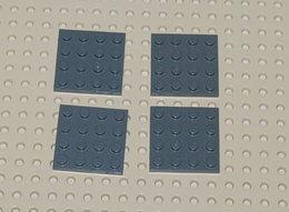 Lego 4x Plate Gris Foncé  4x4 Ref 3031 - Lego Technic