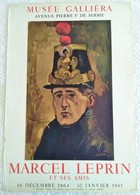 GRANDE AFFICHE ANCIENNE ORIGINALE LITHOGRAPHIQUE EXPOSITION 1965 M. LEPRIN MUSEE GALIERA Imprimeur Mourlot - Posters