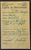 CARTE D'ENVOI DE COLIS MEKNES Maroc  Prisonnier De Guerre STALAG VII A Moosburg Oblitérée Meknes 14 Octobre 1942 - Marcophilie (Lettres)