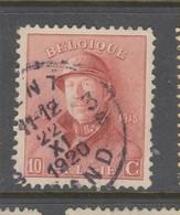 COB 168 Oblitération Centrale GENT 3 - 1919-1920 Albert Met Helm
