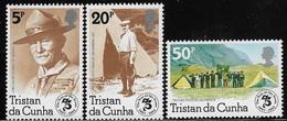 """TRISTAN DA CUNHA - 1982 - 3 Valori Nuovi Stl-  """"75° Anniversario Dello SCAUTISMO"""" - In Ottime Condizioni. - Nuovi"""