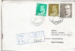 VALENCIA CC CORREO AEREO CERTIFICADO SELLOS BASICA MAT HEXAGONAL - 1931-Hoy: 2ª República - ... Juan Carlos I