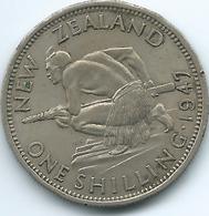 New Zealand - George VI - 1947 - Shilling - KM9a - Nouvelle-Zélande