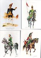 5 Tarjetas Postales De Uniformes Militares. - Uniformes