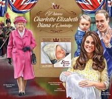 Sierra Leone 2015. [srl15020] Queen Elizabeth And Princess Diana (s\s+block) - Familias Reales