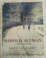 AFFICHE ANCIENNE ORIGINALE LITHOGRAPHIQUE EXPOSITION 1974 HAROLD ALTMAN Imprimeur Mourlot - Posters