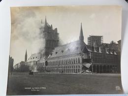 Ieper  *  (Photo Antony)  Incendie Des Halles D'Ypres - 20 Nov. 1914 - Ieper