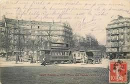 CPA 75 Paris 75017 Tout Paris La Place Des Ternes XVII Tramway Place De L'Etoile - La Villette Attelage Cheval - Places, Squares