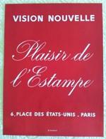 AFFICHE ANCIENNE ORIGINALE LITHOGRAPHIQUE EXPOSITION PLAISIR DE L'ESTAMPE Imprimeur Mourlot - Affiches