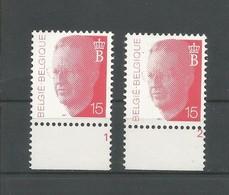 OCB 2450 ** Postfris Zonder Scharnier  Met Plaatnumeer 1 En 2 - 1990-1993 Olyff