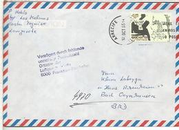 ARRECIFE LANZAROTE CC SELLO LEON FELIPE POESIA LITERATURA MARCA CORREO ALEMAN - 1931-Tegenwoordig: 2de Rep. - ...Juan Carlos I