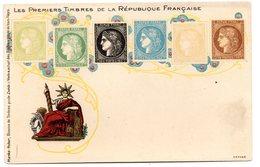 Tarjeta Postal  Les Premiers Timbres De La Republique Française. - Francia