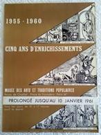 AFFICHE ANCIENNE ORIGINALE LITHOGRAPHIQUE EXPOSITION 1960 PALAIS CHAILLOT TROCADERO Imprimeur Mourlot METIERS SAINT - Posters