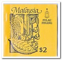 Pulau Pinang 1987, Postfris MNH, Trees ( Booklet, Carnet ) - Maleisië (1964-...)