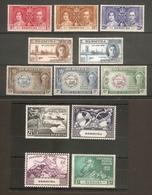BERMUDA 1937 - 1949 COMMEMORATIVE SETS MOUNTED MINT/UNMOUNTED MINT Cat £7+ - Bermuda