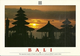 Bali (Indonesia) Temple At Tanah Lot Perches On A Rock Just Off Bali's Western Shore, Sunset, Tramonto, Coucher Du Solei - Indonesia