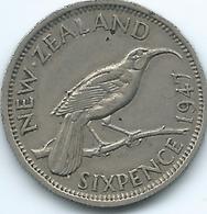 New Zealand - George VI - 1947 - 6 Pence - KM8a - Nouvelle-Zélande