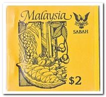 Sabah 1987, Postfris MNH, Trees ( Booklet, Carnet ) - Maleisië (1964-...)