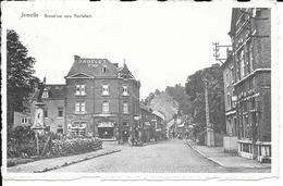 """Jemelle - Grand'Rue Vers Rochefort - Commerce """"Radelet Frères""""Poêlerie,Electricité,Machine à Coudre Etc..- Circulé:1947 - Rochefort"""