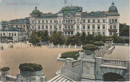 AK Bucuresti Bucarest Bukarest Hotel Boulevard Bulevardul Regina Elisabeta Timbre Timbru Exped Scris Romania Roumanie - Rumänien