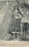 No 39 Montagnarde Avec Mouton Noir  Edit Toufexis Nicosia  Allaitement Breastfeeding Used From Larnaca 1912 - Chypre
