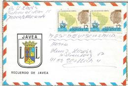 JAVEA ALICANTE CC SELLOS VIAJES REYES A HISPANOAMERICA CARABELA - 1931-Hoy: 2ª República - ... Juan Carlos I