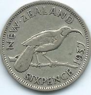New Zealand - George VI - 1937 - 6 Pence - KM8 - Nouvelle-Zélande