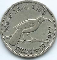 New Zealand - George VI - 1937 - 6 Pence - KM8 - New Zealand