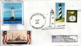 ETATS-UNIS. Phare De Newpoint (baie De Chesapeake) Virginia , Enveloppe Souvenir - Marcophilie