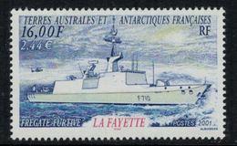 "T.A.A.F. // 2001 //  No.289 Y&T Neuf** Frégate Furtive ""La Fayette"" - Nuevos"