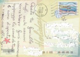 Croatia 2002 Picture Postcard To Italy With 3,50 K. Vis - Croazia