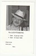 Doodsprentje Vic LUCHTENBERG Geel 1970 - 1994 - Images Religieuses