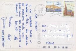 Croatia 2000 Picture Postcard To Italy With 1,30 K. Osijek + 2,20 K. Rovinj - Croazia