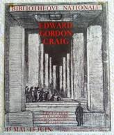 AFFICHE ANCIENNE ORIGINALE LITHOGRAPHIQUE EXPOSITION BIBLIOTHEQUE NATIONALE EDWARD GORDON CRAIG Imprimeur Mourlot - Posters