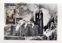 Carte Maximum Oradour Sur Glane 13/10/45 - 1940-49